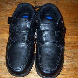 Mens Black Velcro Closure Lightweight Loafer Shoes